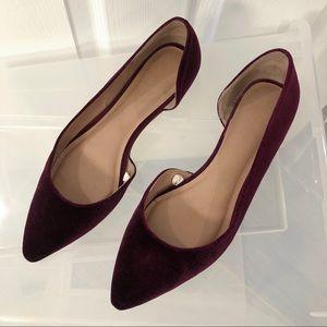Merona Shoes - Medina Velvet D'Orsay Flats